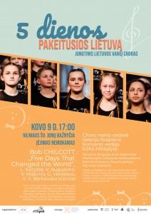 Plakatas 5 dienos, pakeitusios Lietuva